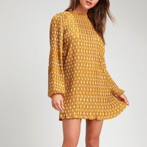 BRAND NEW WITH TAGS LULUS POLKA DOT DRESS!!